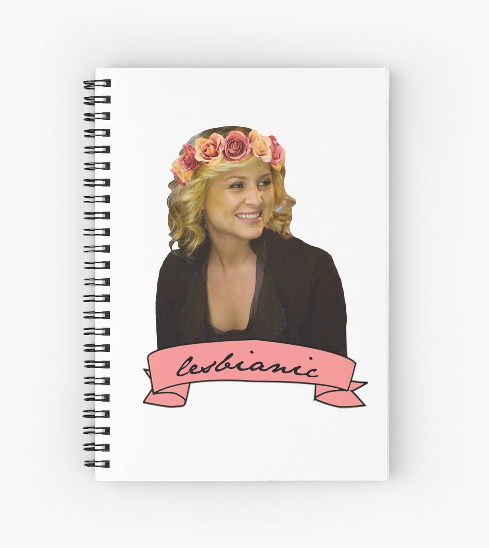 Cuadernos de espiral «Arizona Robbins - Lesbiana» de d e.   Redbubble