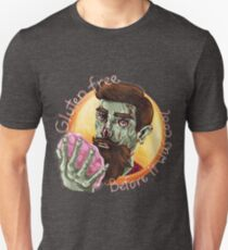 "Zombie Hipster - ""Gluten-Free Before it Was Cool"": original hand-drawn illustration Unisex T-Shirt"