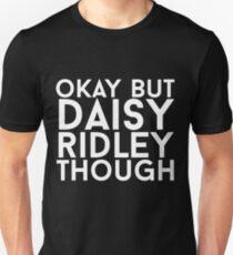 Daisy Ridley - White Text T-Shirt