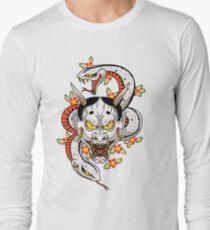Camiseta de manga larga Hannya del perro rabioso