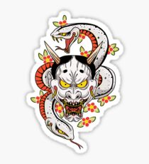 mad dog's hannya Sticker