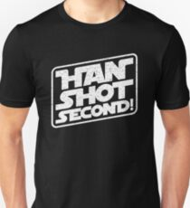 Han Shot Second Star Wars Parody Unisex T-Shirt