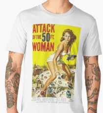 Attack Of The 50-Foot Woman - vintage movie poster Men's Premium T-Shirt