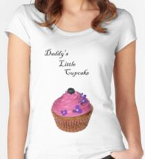 Daddy's Little Cupcake! - Tee - NZ Women's Fitted Scoop T-Shirt