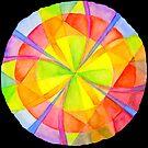 Colour Circle on Black Background by CarolineLembke