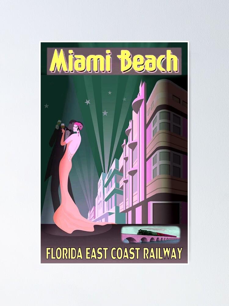 Alternate view of MIAMI BEACH: Vintage Art Deco Buildings Print Poster
