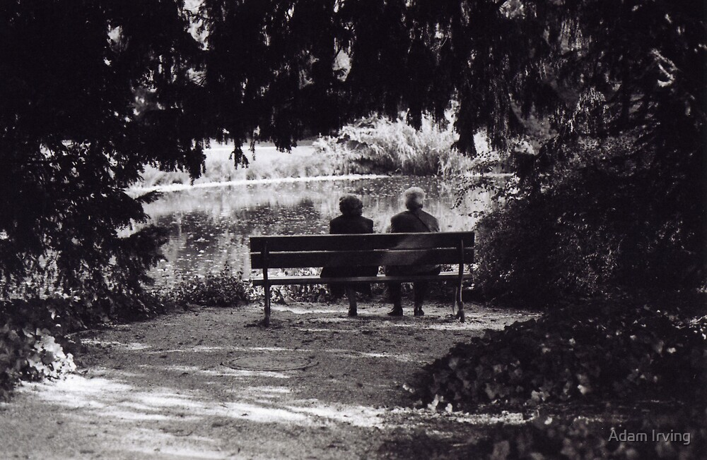 Quot Old Couple On A Bench In Cologne Quot By Adam Irving Redbubble