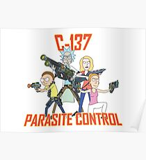 Rick and Morty – C-137 Parasite Control Poster