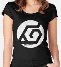 Naruto Hidden Leaf Village Symbol Community Service Women's Fitted Scoop T-Shirt