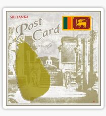 Sri Lanka Curio Post Card Sticker