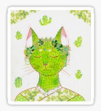 Little Kitty in a Kimono - Cactus Cat Sticker