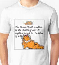 garfield black death comic Unisex T-Shirt