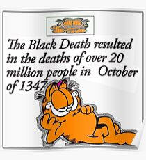 garfield black death comic Poster