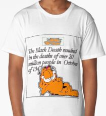 garfield black death comic Long T-Shirt