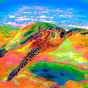 Rainbow Sea Turtle by BadHabitsLounge