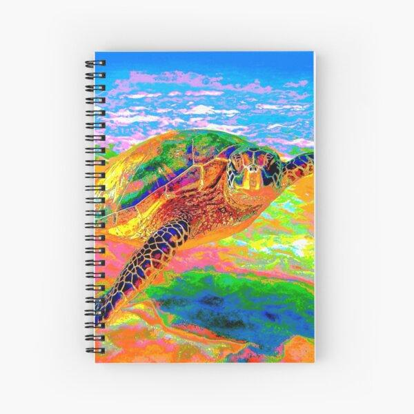 Rainbow Sea Turtle Spiral Notebook