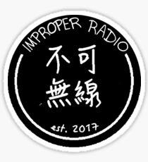 improper radio badge Sticker