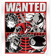 Phantom thief wanted poster Poster