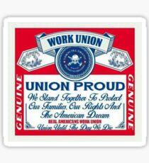 Union Proud - Budweiser  Sticker