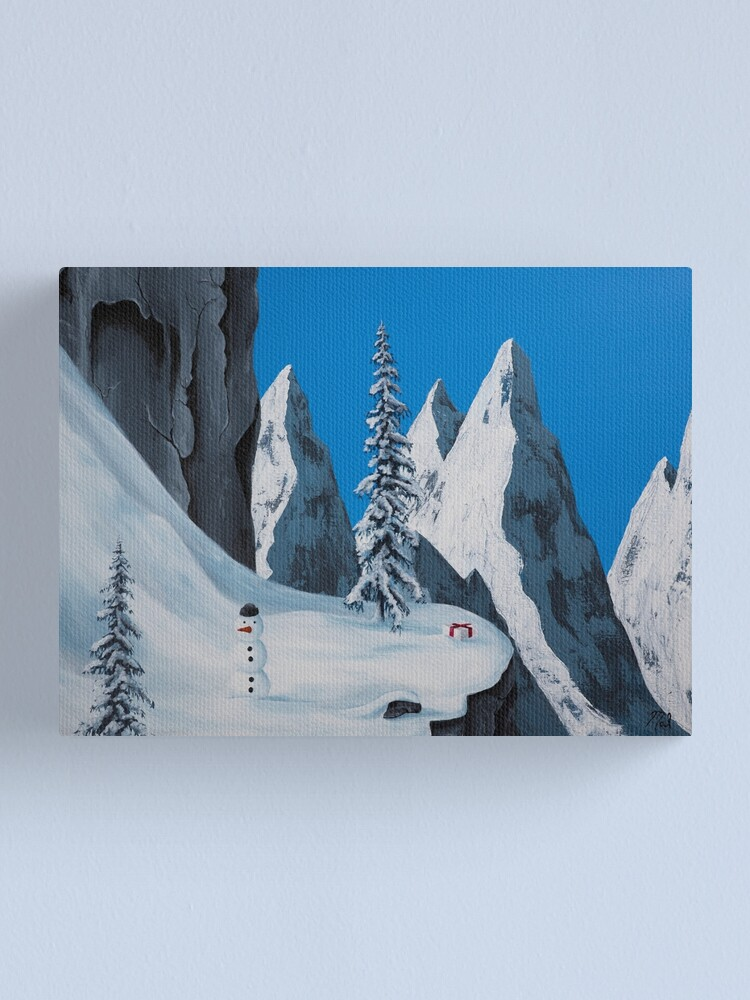 Alternate view of Snowman Canvas Print
