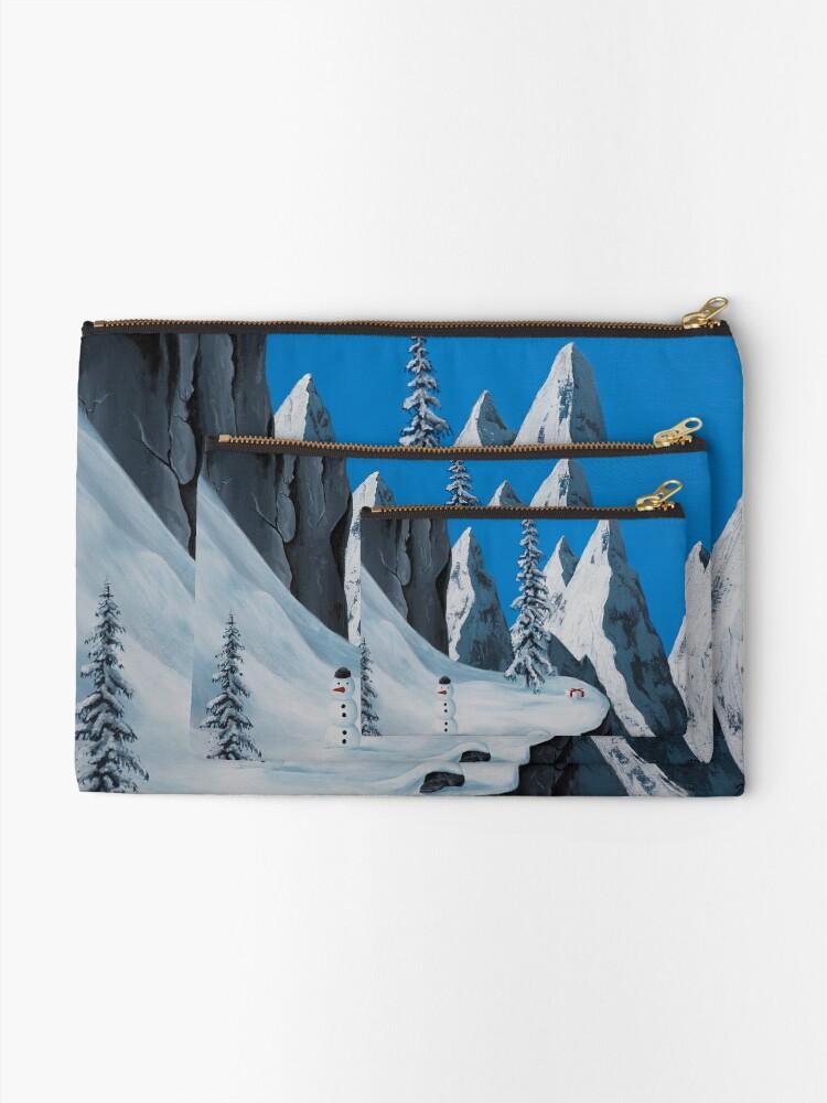 Alternate view of Snowman Zipper Pouch