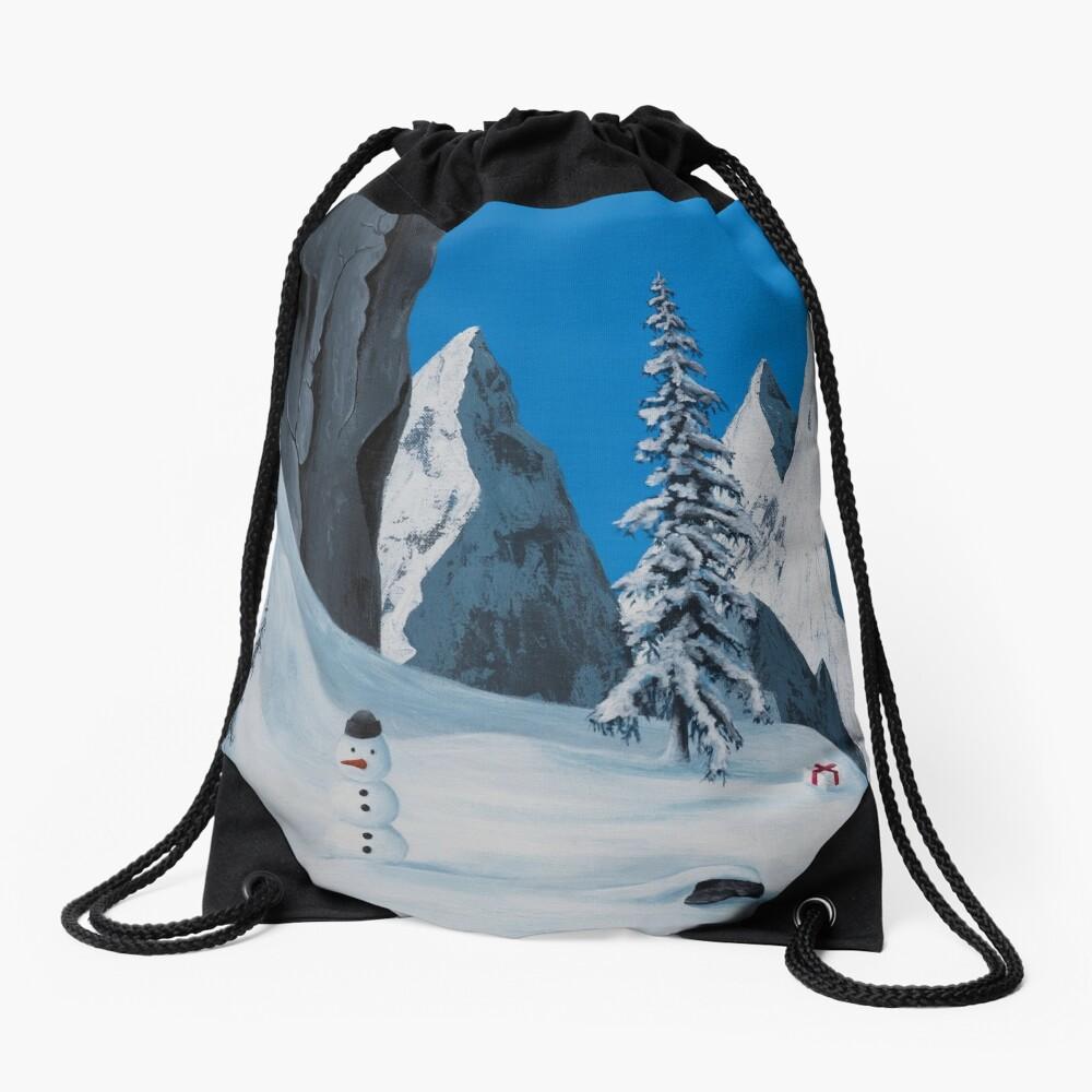 Snowman Drawstring Bag