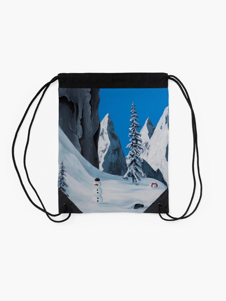 Alternate view of Snowman Drawstring Bag
