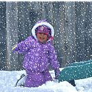 playing in the snow by jeanlphotos