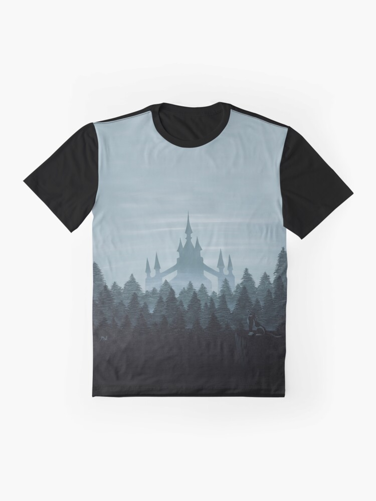 Alternate view of Misty Castle Graphic T-Shirt