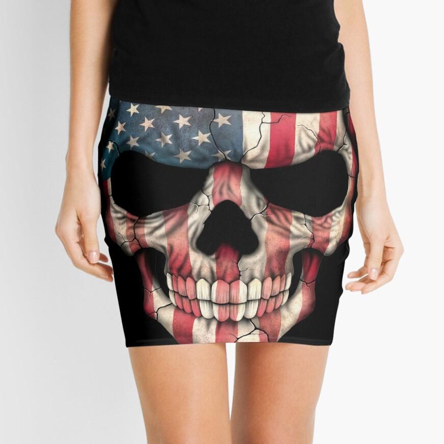 American Flag Skull Mini Skirt