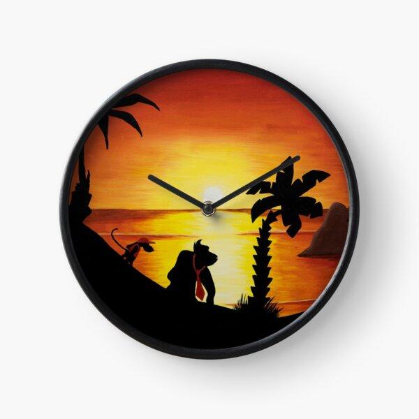 Sunset Shore Clock