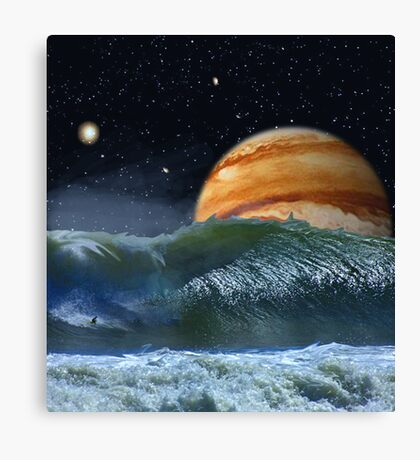 Running the Vortex Canvas Print