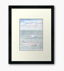 Boats & Seagulls Framed Print