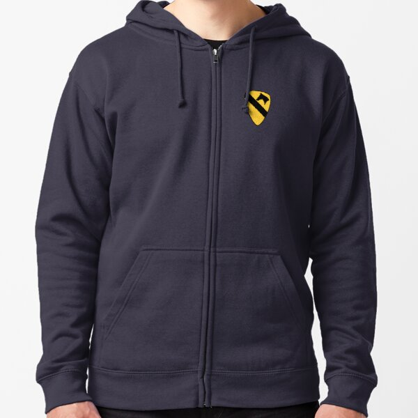 1st Cavalry Division Zipped Hoodie