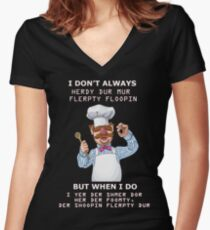 Swedish Chef shirt Women's Fitted V-Neck T-Shirt