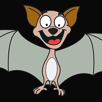 HAPPY BAT by wickedcartoons