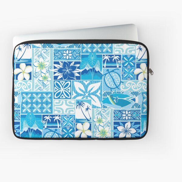New Hawaiian Motif - blue Laptop Sleeve