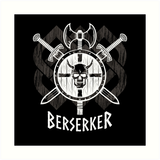 Viking Berserker Fierce Norse Wild Warrior Art Prints By