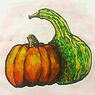 Gourds Illustration by ArtByJessicaJ