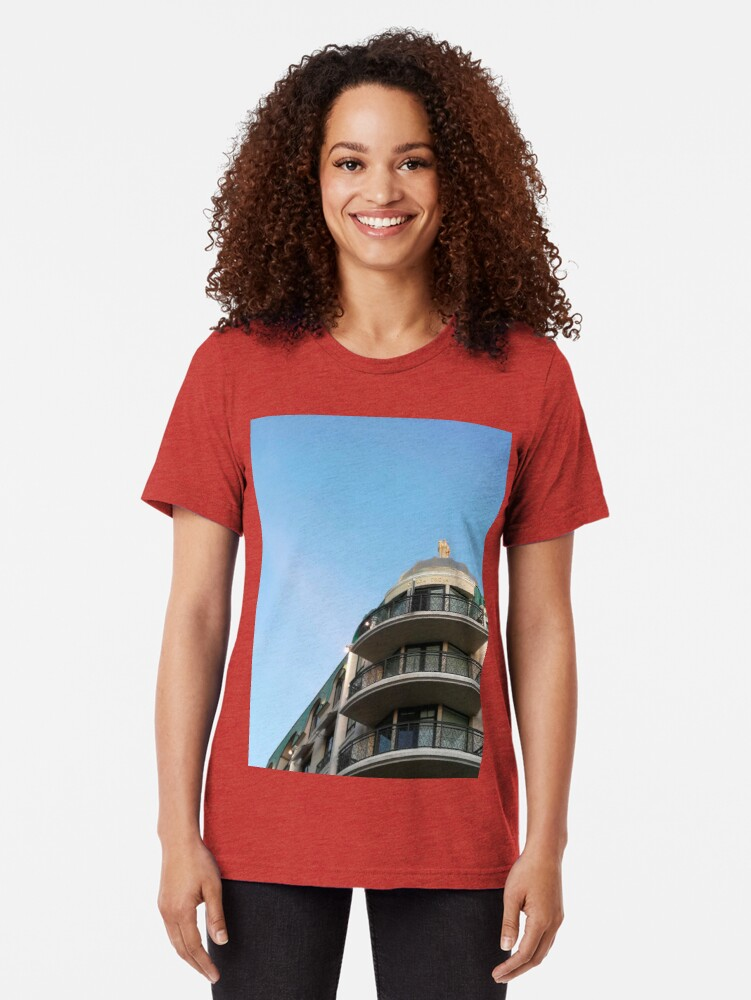 Alternate view of Building at Americana at Brand Tri-blend T-Shirt