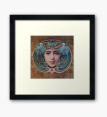 Graceful Vintage French Art Nouveau woman Framed Print