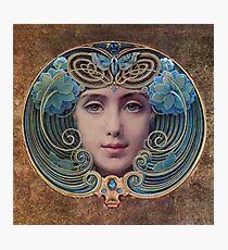 Graceful Vintage French Art Nouveau woman Photographic Print
