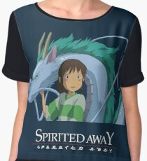 Spirited Away Chihiro and Haku-Studio Ghibli Chiffon Top