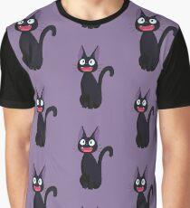Kiki's Delivery Service Jiji-Studio Ghibli Graphic T-Shirt