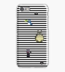 Studio Ghibli-My Neighbor Totoro, Kiki's Delivery Service, and Spirited Away-Striped iPhone Case/Skin