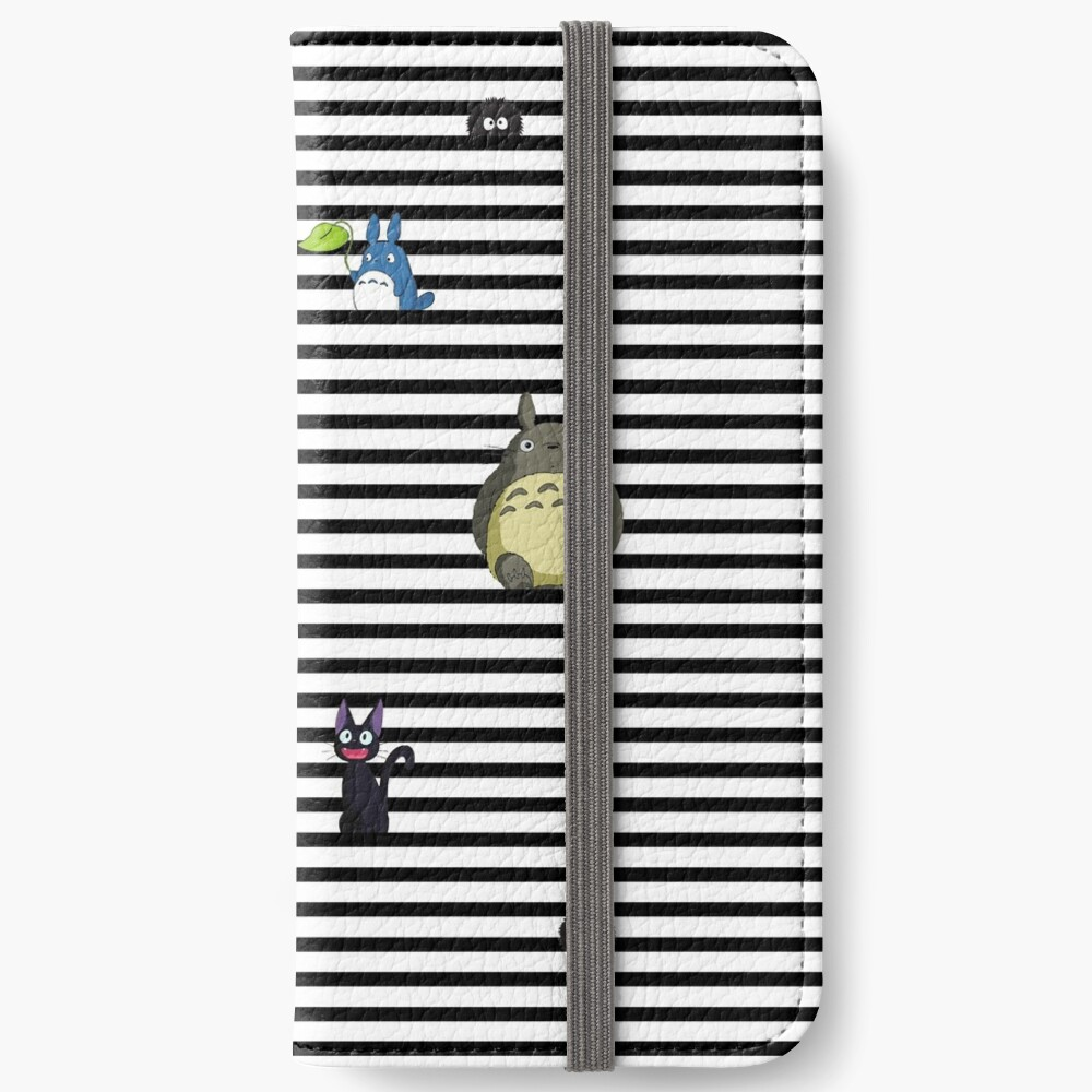Studio Ghibli My Neighbor Totoro Kiki S Delivery Service And Spirited Away Striped Iphone Wallet By Lhethril Redbubble