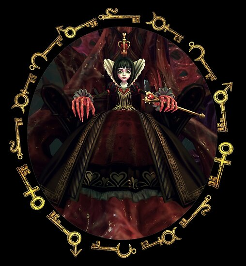 Alice: Madness Returns-Queen of Hearts by Lhethril