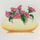 Rose Bowl Illustration by ArtByJessicaJ