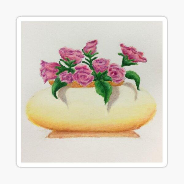Rose Bowl Illustration Sticker