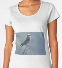 Backlit Lilac Breasted Roller Women's Premium T-Shirt